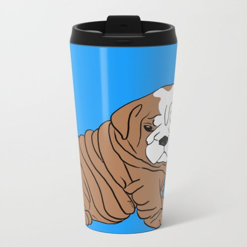 Bulldog Puppy Travel Mug