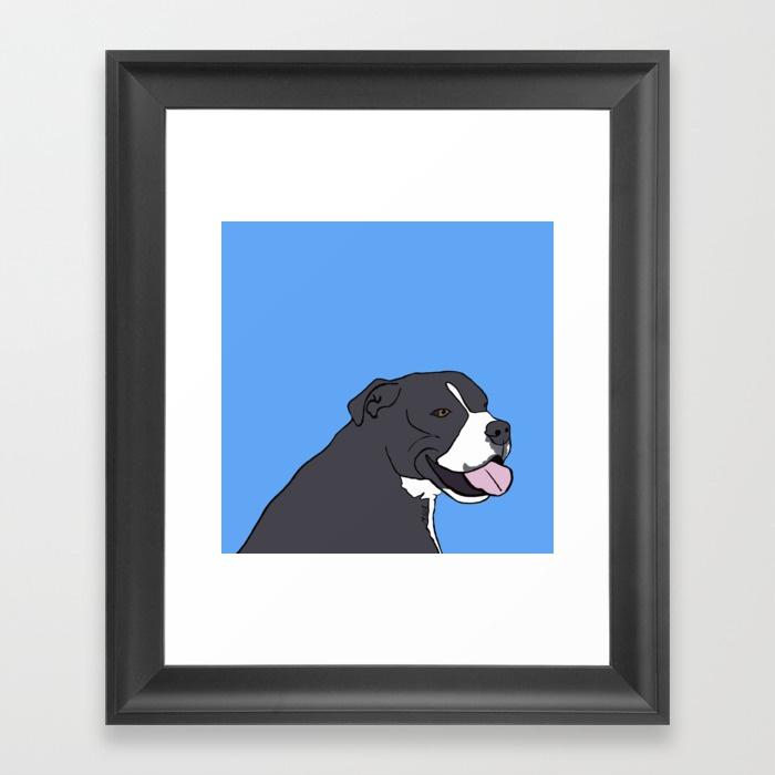 Cash The True Bluenose Pit Bull Framed Print by Melinda Todd