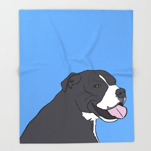 Cash The True Bluenose Pit Bull Throw Blanket