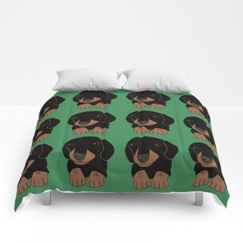 Dachshund Puppies Galore Comforter