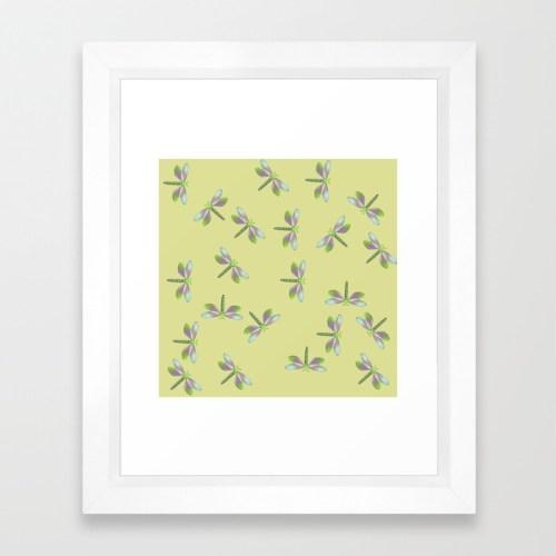 Dragonfly Frenzy Framed Print by Melinda Todd