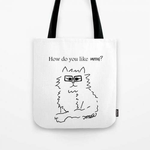 How Do You Like Meow Hipster Kitten Tote Bag