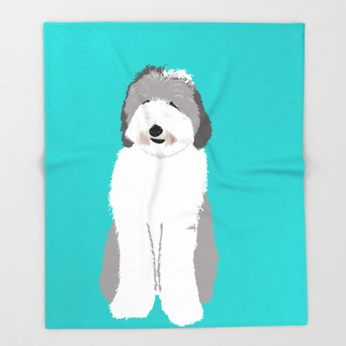 Lucy The Sheepadoodle Throw Blanket