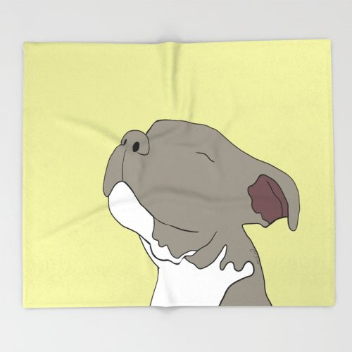Sunny The Pitbull Puppy Throw Blanket