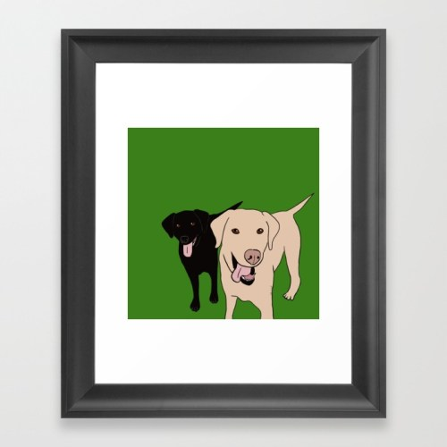 Tanner and Lily Labrador Buddies Framed Print by Melinda Todd