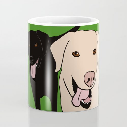 Tanner and Lily Labrador Buddies Coffee Mug