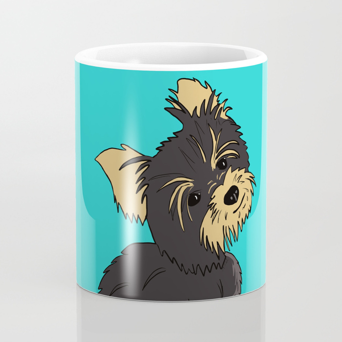 A Bossy Yorkie Coffee Mug by Mel's Doodle Designs