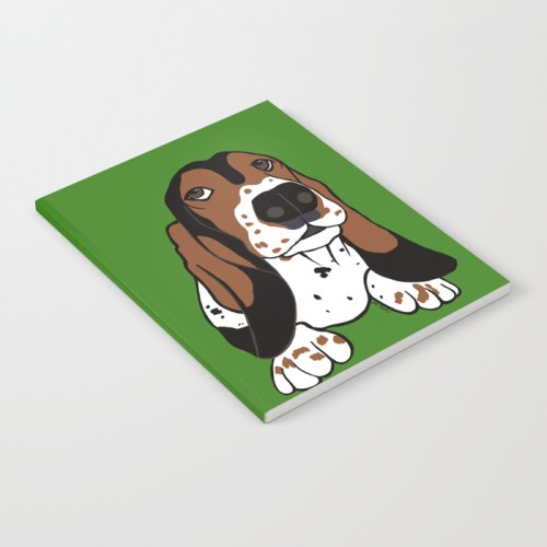 Basset Hound Notebook by Mel's Doodle Designs