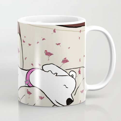 Dog In A Pile of Blankets Coffee Mug  by Mel's Doodle Designs