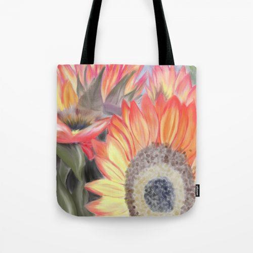 Fall Sunflowers Tote Bag