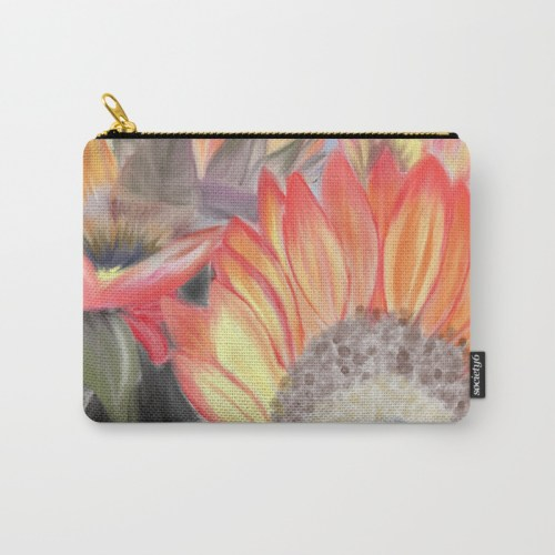 Fall Sunflowers Carry All Pouch