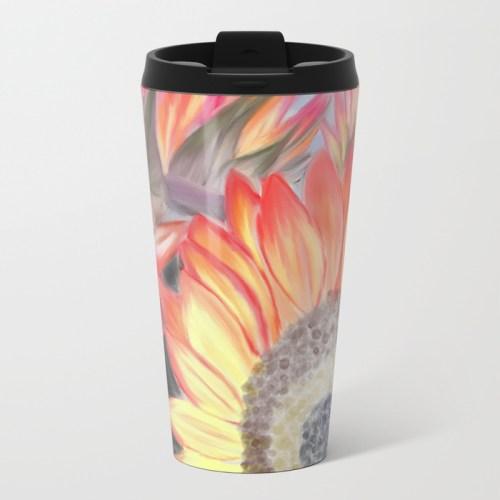 Fall Sunflowers Travel Mug