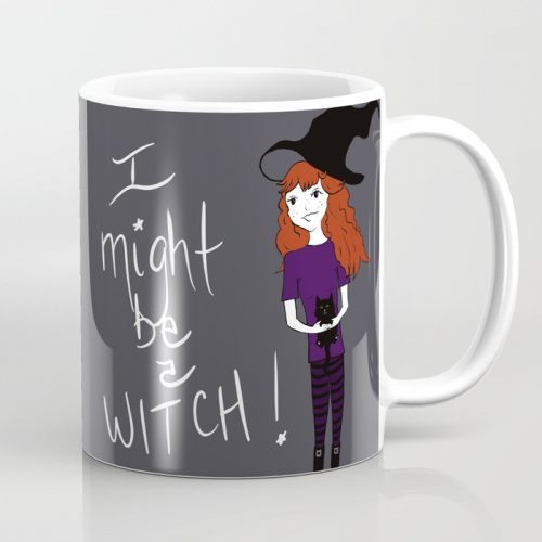 I Might Be A Witch Coffee Mug by Melinda Todd