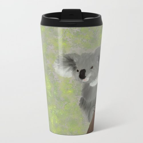 Koala Bear Hanging In There Travel Mug  by Mel's Doodle Designs