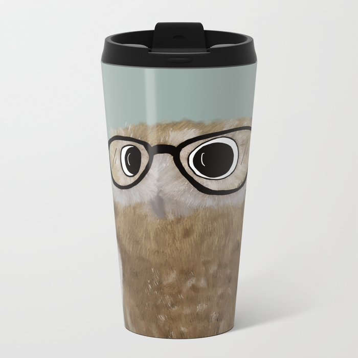 Owl Be Seeing You Travel Mug by Mel's Doodle Designs