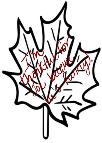 Thankful Leaf Example
