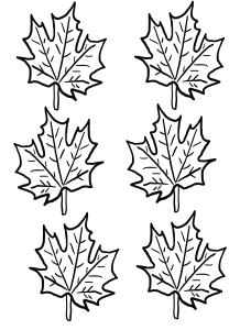 Thankful Thanksgiving Leaves by Mel's Doodle Designs