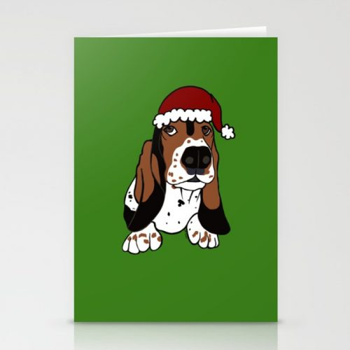 A Basset Full of Christmas Cards by Mel's Doodle Designs