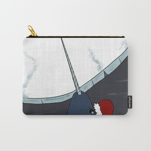 A Narwhal Christmas Carry All Bag by Mel's Doodle Designs