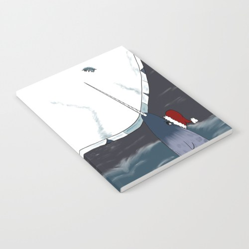 A Narwhal Christmas Notebook by Mel's Doodle Designs