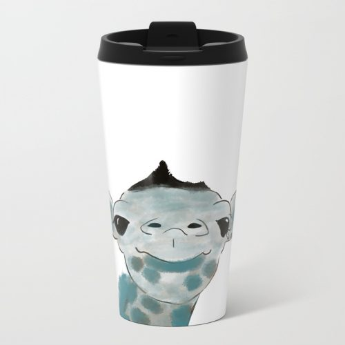 Happy Baby Giraffe Travel Mug by Mel's Doodle Designs
