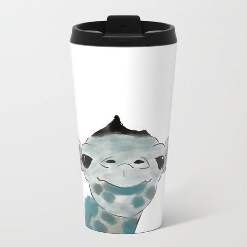Happy Baby Giraffe Travel Mug by Mel's Doodle Designs