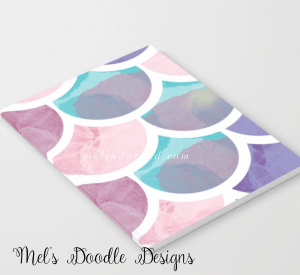 Mermaid scales notebook