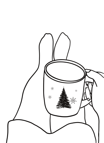 Rest Winter Free Coloring Page by Mel's Doodle Designs