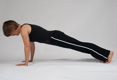 floor planks and pushups