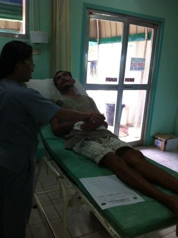 Ronnie taken to hospital