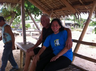 My friend Rowena and her father the day before the Typhoon. The lost so much in Yolanda.