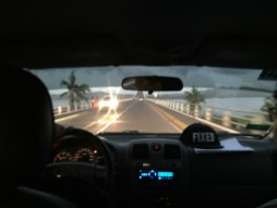 Headed over the San Juanico bridge, leaving Leyte for Samar.