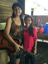 Mel and Rejane in Basay, Western Samar