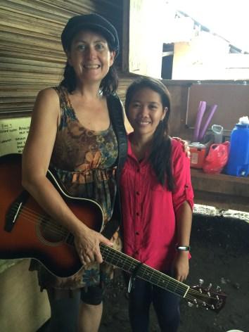 Mel and Rejane in Basay, Western Samar