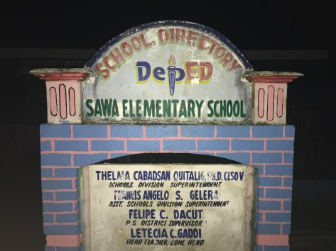 Sawa school grounds.