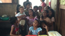 The kids taught me Filipino Christmas songs.