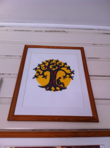 'Tree of Life.' This is a linoprint (3 colour) done as an exercise for TAFE course. We were supposed to base a work on our 'tribe.' I thought Celtic fitted best!