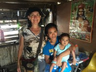 I visited baby Shairy and her 19 year old mother Sunshine earlier that day.