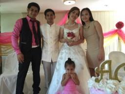 Wedding of Nichol and Ronalyn - new family found