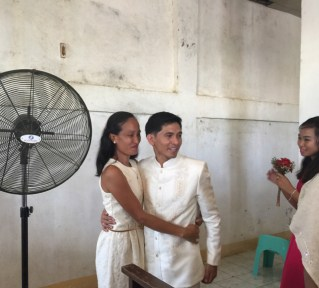 Wedding of Nichol and Ronalyn - saying goodbye to her little brother