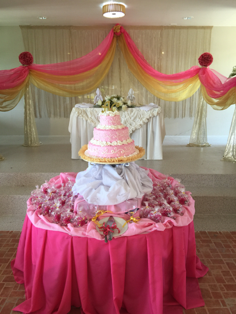 Wedding of Nichol and Ronalyn - the cake