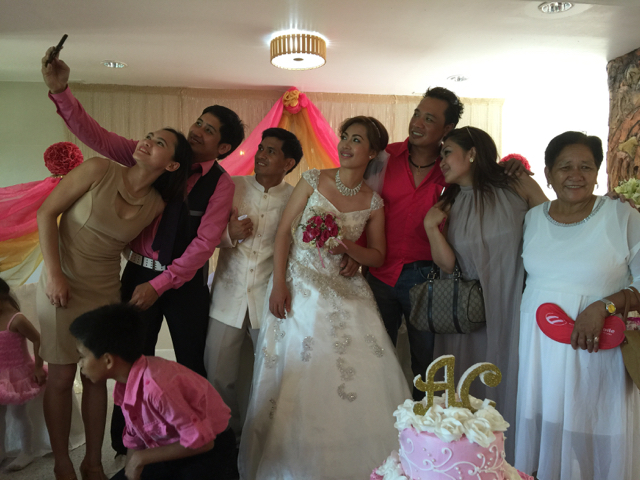 Wedding of Nichol and Ronalyn - wedding selfie