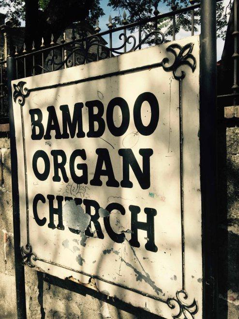 bamboo organ church