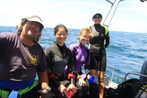 crap weather for diving but great memories of last week just off double-island point ... saw a box jellyfish too ... 27/02/2012