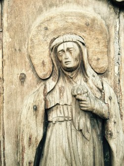 hand carved mary