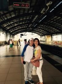 taking the train in manila