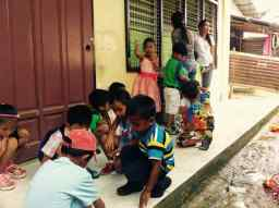 kids wait for their teacher