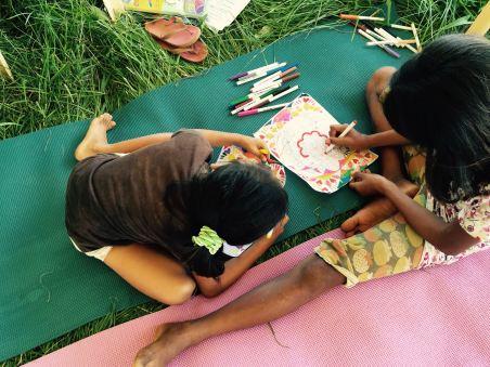 kids of botongon enjoy creative arts