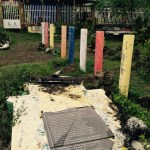 typhoon damaged children's park