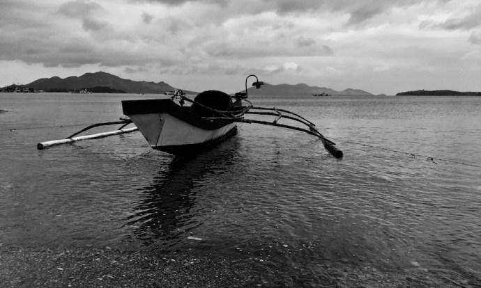 tiny bamboo boat